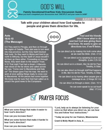 Kids Devotional 8-28-16