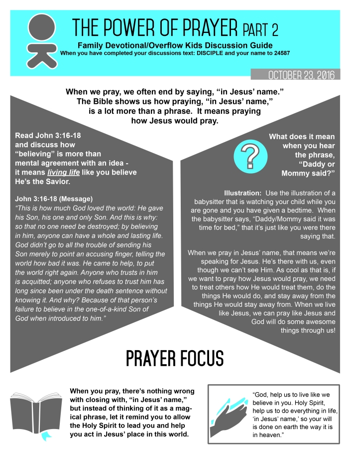 The Power Of Prayer Part 2 Discipleship Tools